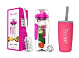 Healthify™ Fruit Infuser Water Bottle 1000 ml / 1 Litre with Time Tracker