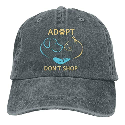 59a8d61a Wdskbg Unisex Adjustable Denim Baseball Caps Adopt Don't Shop Animal Rescue  Dad Hat Multicolor62