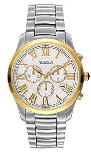Roamer Osiris Chrono Men's Quartz Watch with White Dial Chronograph Display and Silver Stainless Steel Bracelet 530837 47 12 50