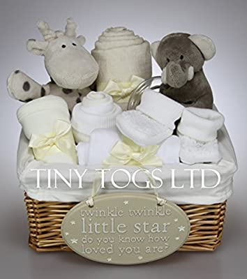 4397caf19451 Unisex Baby Boy Girl Elli and Raf Hamper Gift Basket Baby Shower Present  from Tiny Togs Ltd