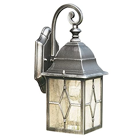 Genoa Cast Aluminium Outdoor IP23 Hanging Wall Lantern Light, 1642