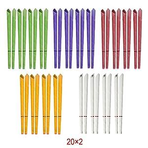 Incutex 40x sanft duftende Ohrkerzen mit unterschiedlichen Duft-Extrakten Ohrenkerzen in unterschiedlichen Farben