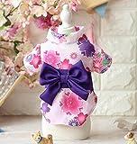 WWUUOOPRT Cute and Attractive Pet Clothing Japanese Sakura Kimono Cat Dog Clothes Pink M