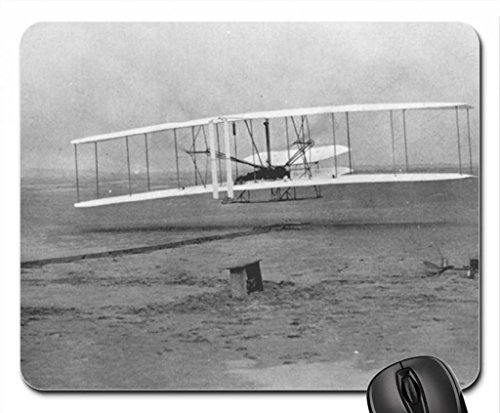 Preisvergleich Produktbild 1903Wright Flyer (Erster Flug) Mauspad, Mousepad (25,9x 21,1x 0,3cm)