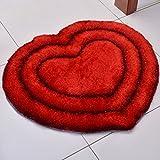 A-ZHP & Supermercado de alfombras Área de Alfombra Coreana de Seda en Forma de corazón Alfombra Redonda Dormitorio Sala de Estar habitación Alfombra Mesa de café Moderna Alfombra Decorativa