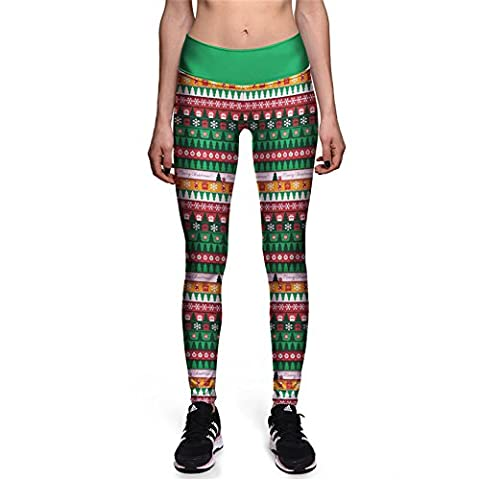 Imprimer Des Filles Tartan Check Capris Impression Géométrique Trendy Mode Legging Femmes L
