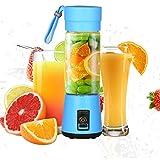 Persönlicher Mixer, Tragbar Mini Blender mit 400ml Hoch-Borosilikatglas-Tasse, wiederaufladbarer USB- Standmixer für Shake, Smoothie, Getränk von Obst und Gemüse