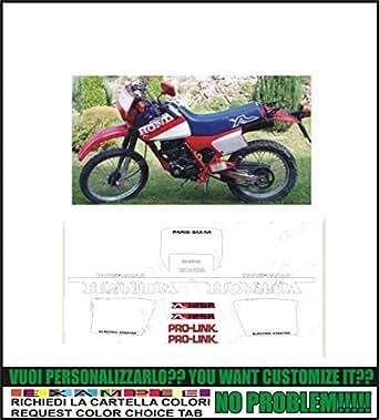 Kit adesivi decal stikers HONDA XL 125 R PARIS DAKAR (possibilité de personnaliser les couleurs)
