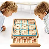 Sudoku Puzzle Table Game with Wooden Number Development of intelligence Sudoku Board Games Children Adult Toys