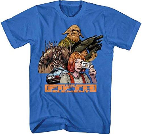 Fifth Element Herren Fünfte Fatca Film Gruppe Erwachsene Graphic T-Shirt (Medium) (Element Fünfte Leeloo)