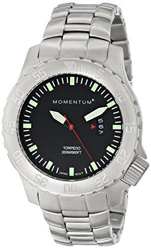 Momentum  1M-DV74B0 - Reloj de cuarzo para hombre, con correa de acero inoxidable, color plateado