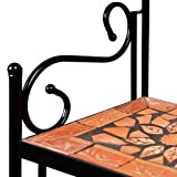 Deuba Regal Mosaik Wandregal Metallregal Standregal Garten TERRACOTTA Mosaikregal