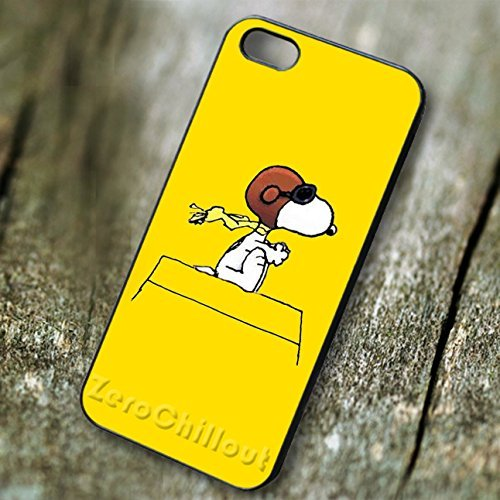 Classy vintage pilot Snoopy image on yellow - tr for iPhone 5 or iPhone 5S or iPhone 5SE Case F1V3KY
