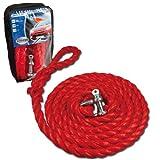Cartrend 50235 Abschleppseil 4 Tonnen, Länge 3,5 m in praktischer Zipp-Tasche, rot