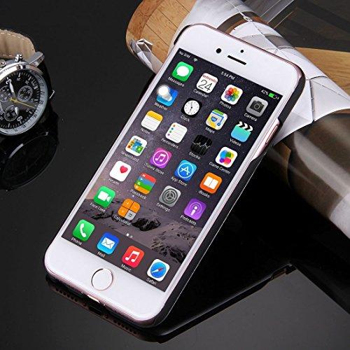 Hülle für iPhone 7 plus , Schutzhülle Für iPhone 7 Plus Metall Schutzmaßnahmen zurück Fall ,hülle für iPhone 7 plus , case for iphone 7 plus ( Color : Rose Gold ) Silver