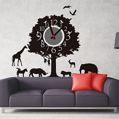 Y & M Horloge murale DIY animation forêt Parc avec animaux