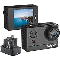 ThiEYE Action Cam 4K, T5e WIFI Action Camera 16MP 5,08 cm Display,2 batteria, 60m Impermeabile, 170°Wide Angle Fotocamera Subacquea,Controllo APP per immersioni