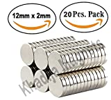 #4: KHADIJA Magnets 20 Pieces 12mm x 2mm Premium Brushed Nickel Pawn Style Magnetic Push Pins,Fridge Magnets, Office Magnets, Dry Erase Board Magnetic pins, Whiteboard Magnets,Refrigerator Magnets