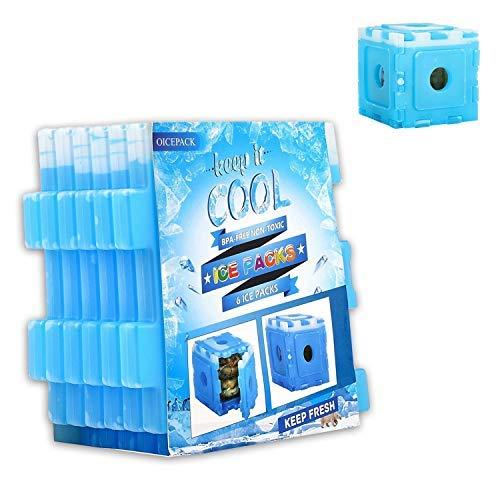 OICEPACK Kühlakkus für Kühltasche, Brotdose Kühlakku GelKlein für Lunchbox und Flaschen, Kühlelemente Flach für Kühltasche, Camping, Die Arbeit, Kinder Unterwegs, 6er Set