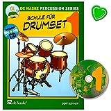 Schule für Drumset Band 1 - Schule von Gert Bomhof für Drumset den Schwerpunkt auf drei wesentliche Elemente des Drumset-Spiels: Timing, Technik und Klang mit CD und bunter herzförmiger Notenklammer