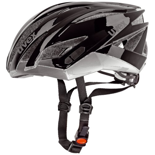 Uvex Ultrasonic Race - Casco ciclismo, color negro / plata, talla 55-58