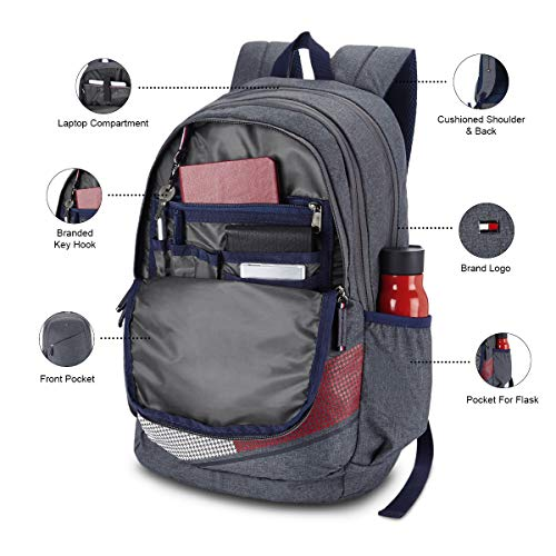 Best tommy hilfiger backpack in India 2020 Tommy Hilfiger Xylo 30 Ltrs Grey Laptop Backpack (TH/XYLOLAP07) Image 5