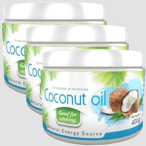 1200ml 1200g 3x 400g Coconut Oil Kokosl Kokosfett Kokosnussl Geruchlos 100 Natrlich Und Rein Reich An Ungesttigten Fettsuren
