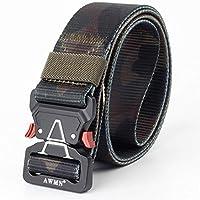 ZheTianmios Cinturón de Nylon táctico al Aire Libre Cinturón de ejército Militar Gear Hombre Faja de liberación rápida Hebilla de Metal Cinturón de Servicio Camo Camo 2 125cm
