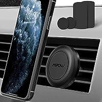 Mpow Soporte Móvil Coche, Soporte Magnético Rejillas, con Iman (2 Pack) para Rejillas Aire Coche Iman para iPhone XS/XS MAX/XR/X 8/8 Plus/7, Galaxy Note9/8/S8/S8, Smartphone, Dispositivo GPS y ect