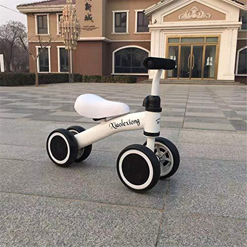 WYD Baby Balance Auto Kinder fahrt auf Spielzeug Fahrrad DREI räder Dreirad Spielzeug für Kind Fahrrad Walker für 1 bis 3 Jahre alt Kind, White -