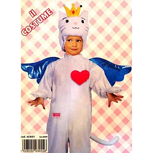FIORI PAOLO Angel Cat Sugar Kostüm, Größe 3/4, 4/6, 6/8 Jahre, Mehrfarbig, 004501.171 (Angel Cat Kostüm)