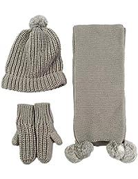 MERRYHE Warm Fleece Forro Gorros Sombreros Guantes Bufanda Conjuntos para  Mujeres Señoras Deporte Al Aire Libre 93f89e17a5d