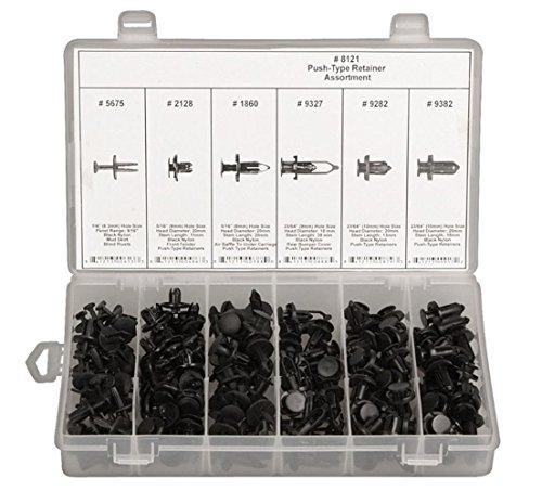 175pcs-negro-nailon-push-type-retainer-cierre-clip-surtido