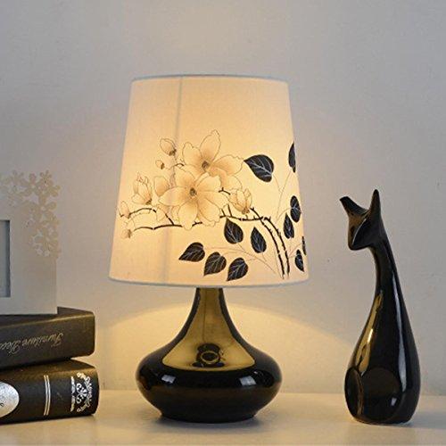 Mehrfarbige optionale moderne luxuriöse und einfache Tischlampe für Schlafzimmer Badezimmer Baby Room LED kreative Lampe , black