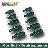 Drahtspanner Gr. 2 grün für Spanndrähte bis Ø 3,1mm, 10er Set