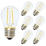 6x E27 Nicht Dimmbar Glühfaden LED Lampe Ersetzt 10 Watt Birne,2W 180 Lumen 2700K Warmweiß Filament Fadenlampe