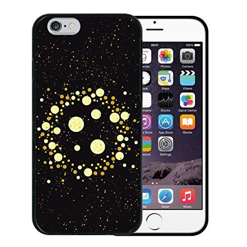 iPhone 6 6S Hülle, WoowCase Handyhülle Silikon für [ iPhone 6 6S ] Mondrian Stil Rechtecke Handytasche Handy Cover Case Schutzhülle Flexible TPU - Transparent Housse Gel iPhone 6 6S Schwarze D0433
