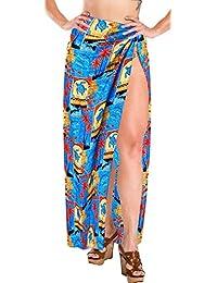 86339c095d LA Leela Printed Soft Light Swimwear Women Pareo Wrap Sarong