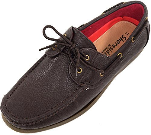 Scarpe da barca estive da uomo, con stringhe, stile casual, marrone (Brown), 43