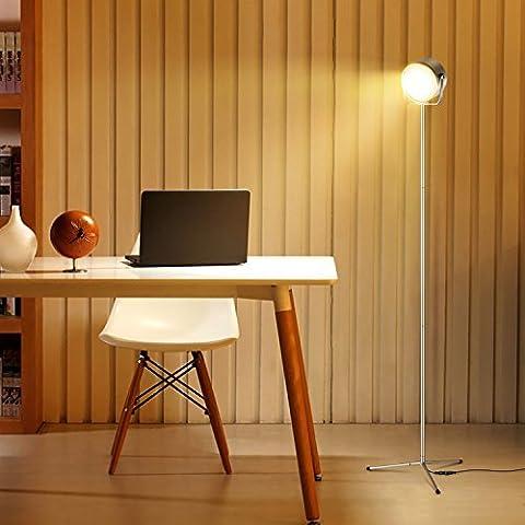 Albrillo Kabellos Dimmbar LED Stehlampe modern 10W, mit Fernbedienung (Silber)