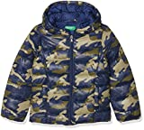 United Colors of Benetton Mädchen Jacke Jacket, Mehrfarbig (Multicolor (Green, Blue) 904)130(Herstellergröße: 7-8 years/M)
