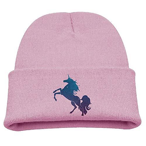 Unicorn Galaxy Space Horse Kids Boys Girls Knit Cute Cuff Baggy Hip-hop Slouchy Hat Children Basic ()