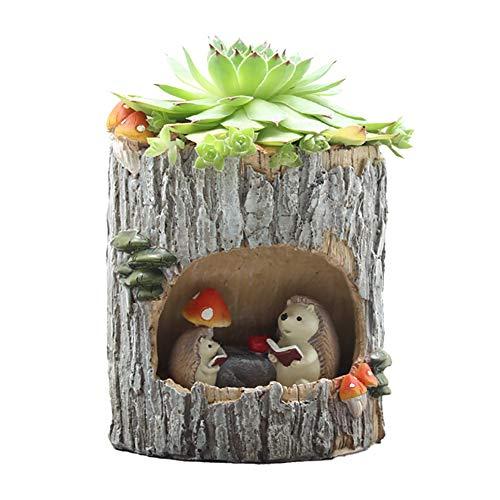 Yamer Igel Große Niedliche Tierförmige Cartoon Home Decoration Sukkulenten Töpfe mit Harz Harz Mini Blumentöpfe Gartenpflanzen Vase Schreibtisch Dekoration -