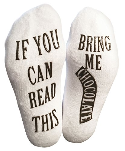 """Haute Soiree """"If You Can Read This, Bring Me…"""" (Wine, Chocolate, Coffee) Footie Socks in Luxurious Combed Cotton for Women and Men – the for Christmas, Birthdays, or Holidays 51SuceJDssL"""