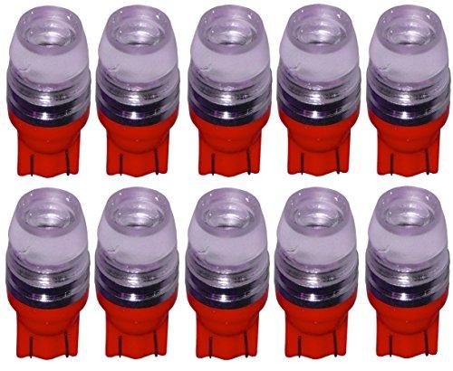 AERZETIX: 10x Ampoule T10 W5W 12V COB LED High Power Rouge veilleuses éclairage intérieur seuils de Porte plafonnier Pieds Lecteur de Carte Coffre Compartiment Moteur Plaque d'immatriculation