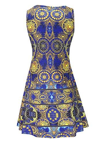 RUIYIGE Damen Kleid Gelb