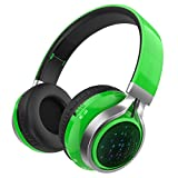 Excelvan BT16 - Bluetooth Kopfhörer Over Ear Headset mit LED Licht ( FM Rodio, 40mm Bass, Faltbares Design, SD-Karte unterstützen, Audiokabel, für iOS, Andriod, Handys, Tablets, Laptops, PC )