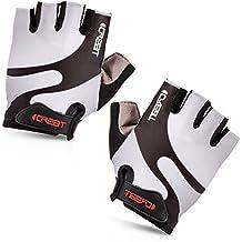 iCreat Damen / Herren Kurze Rennrad Handschuhe Power Fahrrad Active Gloves mit Geleinlage