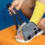 Postoperativer Patientenschuh - Damengröße L 40 - 42 groß - (economy) günstig qualitativ┇Angenehm nach operativen Eingriffen, wenn Sie einen Wundverband oder Gips tragen müssen - Gipsschuhe Schuhe für Gips Überzug Überziehschuh Gipsschuh Laufziehschuh Verband orthopädische Verbandschuh Hausschuhe Rehaschuhe Therapieschuhe Klettschuhe mit Klettverschluß Verbandschuhe Damen