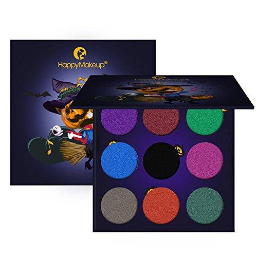 (Biback 9 Color Eyeshadow Palette Hohe Pigmentierte Make-up Lidschatten Pigment Halloween Maskerade Geeignet für alle Parteien)